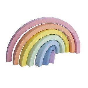 Arco-íris candy em madeira