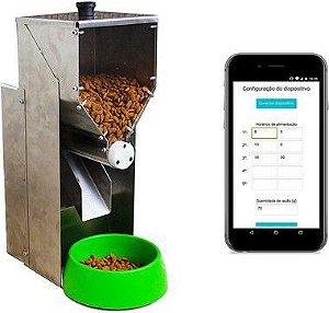 Alimentador para pequenos animais (Com envio de mensagens)