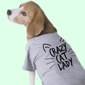 Camiseta para Cachorros - Crazy Cat Lady