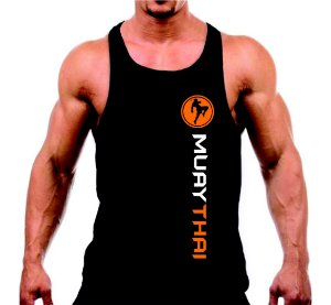 Camiseta regata Muay Thai masculina em malha fria PV!