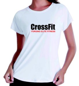 Camiseta baby look feminina Crossfit elite fitness
