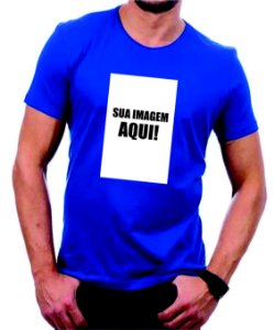 Camiseta colorida personalizada com sua imagem - Veja descrição!
