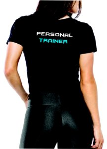 Camiseta baby look feminina Personal Trainer Dry Fit Blue