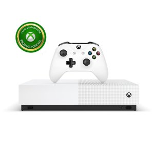 Novo Console Xbox One S ALL Digital Edition 1TB 4k + Controles Sem Fio - Microsoft