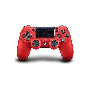 Controle Joystick Ps4 Sem Fio Dualshock 4 Original Magma Red - Vermelho Sony