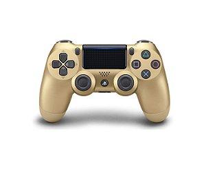 Controle Joystick Ps4 Sem Fio Dualshock 4 Original Gold - Dourado Sony