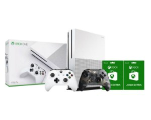 Console Xbox One S 1tb 4k 2 Controles Armed Forces II e 2 Jogos Extras - Microsoft