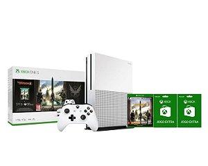 Console Xbox One S 1TB  Com Game The Division 2 + Controle Sem fio + 2 Jogos Extras - Microsoft