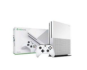 Console Xbox One S 1TB 4K Com 1 Controle Branco - Microsoft