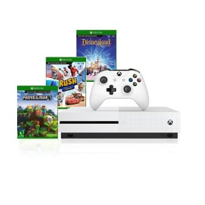 Console Xbox One S 1tb 4k 1 Controle Wireless Jogos Minecraft - Rush Disney - Disneyland Adventures - Microsoft