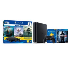 Console Playstation 4 Slim 1TB Hits Bundle 4 c/ 3 jogos + Uncharted 4 - Sony