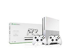 Console Xbox One S 1TB Com 2 Controles Brancos  - Microsoft