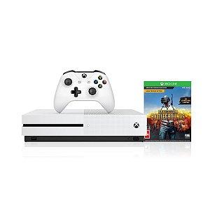 Console Xbox One S 1TB 4K Com 1 Controle Branco e Jogo Battlegrounds - Microsoft