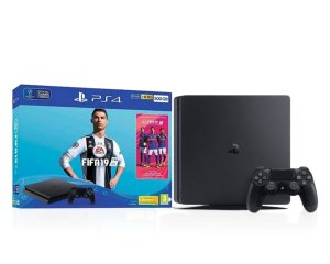Console PlayStation 4 500GB Bundle Com Game Fifa 19 e Controle DualShock 4 Preto  - Sony