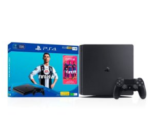 Console PlayStation 4 1TB Bundle com Game Fifa 19 e Game Ratchet and Clank Hits - Sony