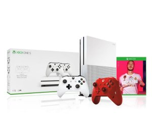 Console Xbox One S 1tb 4k 1 Controle Wireless Branco 1 Sport Red Especial Edition + Fifa2020 - Microsoft