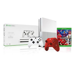 Console Xbox One S 1tb 4k 1 Controle Wireless Branco 1 Sport Red Especial Edition + Pes2020 - Microsoft
