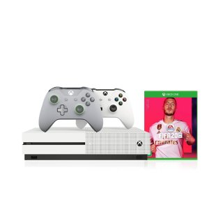 Console Xbox One S 1tb 4k 1 Controle Wireless Branco 1 Grey/Green Especial Edition e Fifa2020 - Microsoft