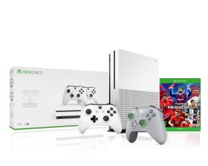 Console Xbox One S 1tb 4k 1 Controle Wireless Branco 1 Grey/Green Especial Edition + Pes2020 - Microsoft