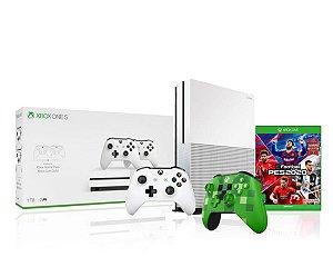Console Xbox One S 1tb 4k 1 Controle Wireless Branco 1 Minicraft Especial Edition + Pes2020 - Microsoft