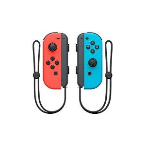 Controle Nintendo Joy-Con (Esquerdo e Direito) Rosa Neon/Verde Neon - Switch