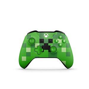 Controle Joystick Sem Fio Microsoft Xbox One Minecraft Creeper Especial Edition  - Microsoft