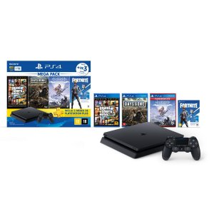 Console Playstation 4 Mega Pack Bundle V6 c/ 3 jogos e Vbucks - Sony