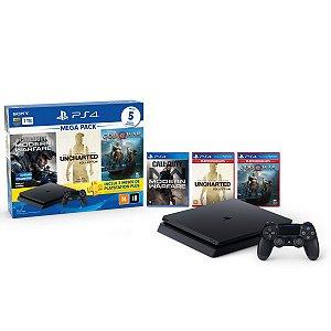 Console Playstation 4 Mega Pack V7 c/ 3 jogos - Sony