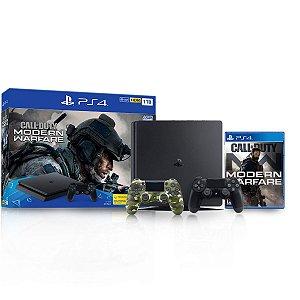Console Playstation 4 Slim 1TB c/ controle camuflado e jogo Call of Duty - Sony