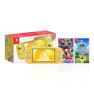 Console Nintendo Switch Lite c/ 2 jogos ‑ Nintendo