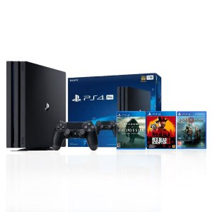 Console Playstation 4 Pro 1 TB + Controle Wireless DualShock 4 c/ 3 jogos - Sony