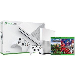 Console Xbox One S 1tb 4k PES 2020 Edição Especial + Minecraft - Microsoft