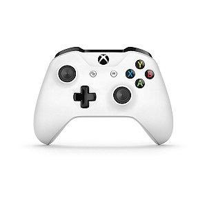 Controle Joystick Sem Fio Microsoft Xbox One Branco  - Microsoft