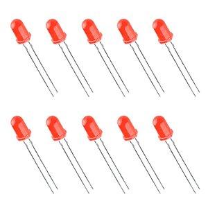 LED Difuso 5mm Vermelho x10 Unidades