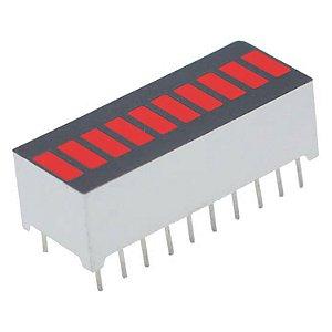Barra Gráfica de LED 10 Segmentos Vermelha