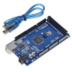 Placa Mega 2560 R3 + Cabo USB para Arduino