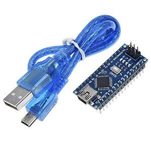 Placa Nano V3 + Cabo USB para Arduino