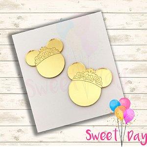 Cabeça Minnie Princesa com coroa (10 peças) 5 cm