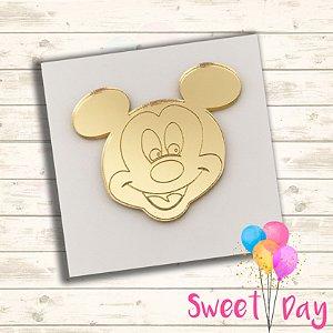 Aplique Cabeça Mickey (10 peças) 4 cm