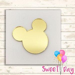 Aplique Cabeça Mickey (10 peças) 5 cm