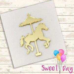 Aplique Cavalo Carrossel (10 peças) 4 cm
