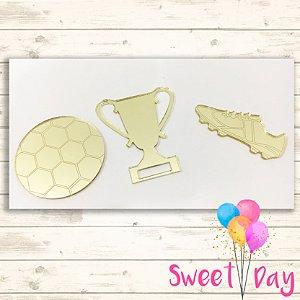 Aplique Kit Futebol ( 15 peças) 4 cm