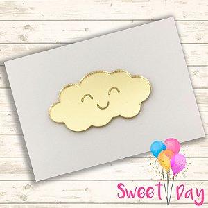 Aplique Nuvem  (10 peças) 4 cm