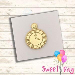 Aplique Relógio Alice ( 10 peças) 4 cm