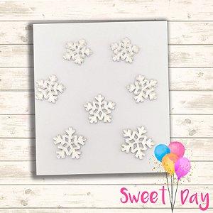 Apliques floco de neve Frozen ( 20 peças ) 3 cm