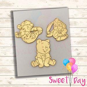 Aplique Ursinho Pooh ( 15 peças ) 5 cm