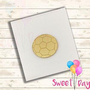 Aplique Bola de Futebol  (10 peças ) 4 cm