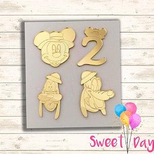 Aplique Kit Safari Mickey ( 20 peças ) 5 cm