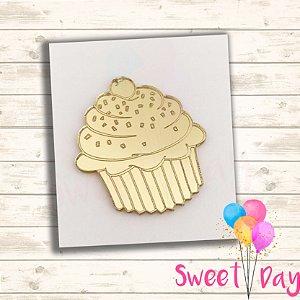 Aplique Cup Cake ( 10 peças ) 5 cm