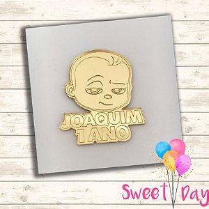 Aplique Baby Boss  com nome 6 cm (pacote com 05 peças)
